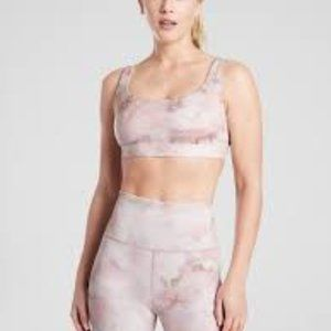 Athleta Exhale Pink Snow Dye Bra Size M